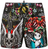 DSQUARED2 abstract print swim shorts