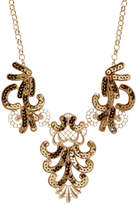 ABS by Allen Schwartz Sequined Filigree Bib Necklace