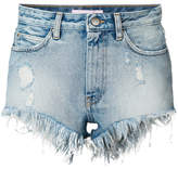 Palm Angels frayed denim shorts