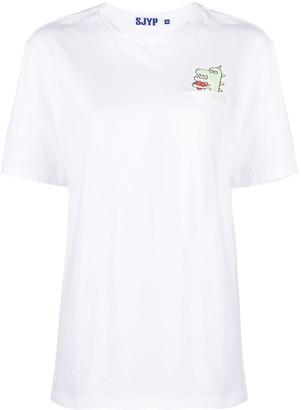 Sjyp Dino Pocket cotton t-shirt