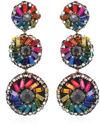Suzanna Dai Florian Pinwheel Large Drop Earrings