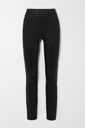L'Agence Rochelle Coated High-rise Skinny Jeans - Black