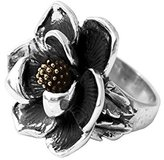 King Baby Studio Women's 925 Sterling Silver Magnolia Flower Ring - Size L