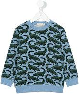 Stella McCartney crocodile print sweatshirt - kids - Cotton - 12 yrs