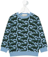 Stella McCartney crocodile print sweatshirt - kids - Cotton - 4 yrs