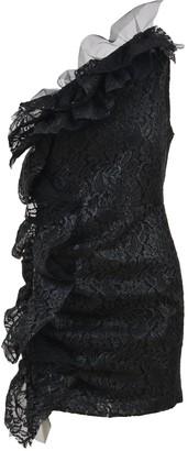 MSGM One-Shoulder Lace Ruffled Dress