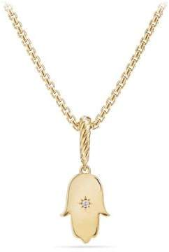 David Yurman Cable Collectibles Hamsa Amulet In 18K Gold With Diamonds