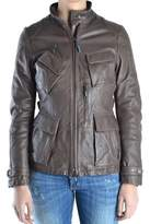 Brema Women's Brown Leather Outerwear Jacket.