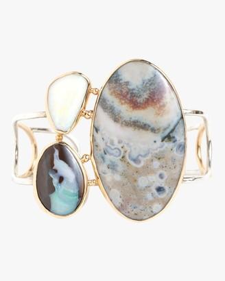 Melissa Joy Manning Boulder Opal And Ocean Jasper Cuff Bracelet