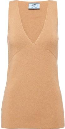 Prada sleeveless V-neck top