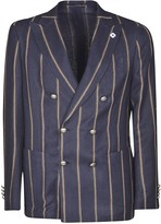 Lardini Double-breasted Stripe Blazer