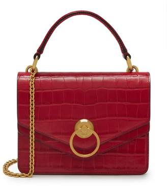Mulberry Small Harlow Satchel Red Berry Croc Print