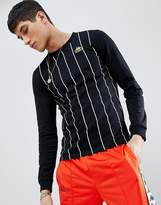 Kappa Stripe Long Sleeve T-Shirt In Black