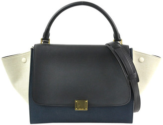 Celine Leather Small Trapeze Satchels