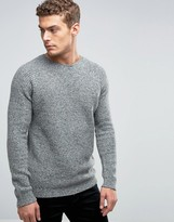 Benetton Crew Neck Sweater with Multi Colored Fleck