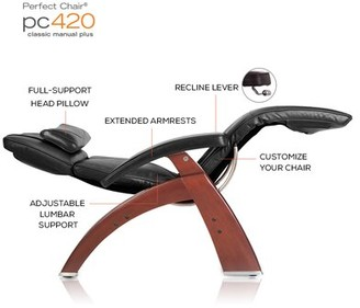 Human Touch Perfect Chair Manual Glider Recliner Upholstery: Espresso, Finish: Dark Walnut, Leather Type: Top-Grain Leather