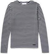 Ami Slim-fit Striped Cotton T-shirt - Navy