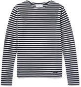 Ami Slim-Fit Striped Cotton T-Shirt