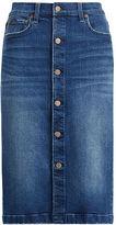 Polo Ralph Lauren Buttoned Denim Pencil Skirt
