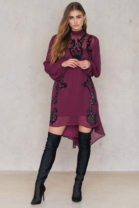 Free People Just Like Heaven Mini Dress Purple