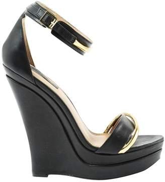 Rachel Zoe Black Leather Sandals