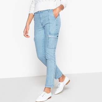 La Redoute Collections Raw Cut Slim Fit Cropped Jeans