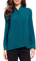 Investments Petites Long Sleeve Button Front Shirt