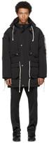 Maison Margiela Black Rope Drawstring Hooded Jacket