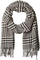 Scotch & Soda Men's Classic Scarf In Brushed Quality with Check Pattern