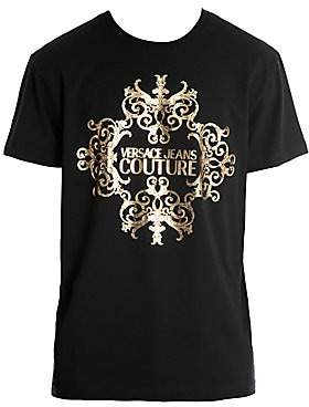 Versace Men's Baroque Foil Logo T-Shirt