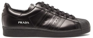Prada For Adidas - Prada Superstar Leather Trainers - Black