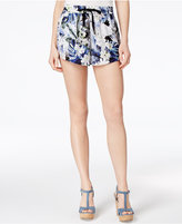 Kensie Tropical Blues Drawstring Shorts