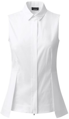 Akris Collared Sleeveless Blouse