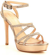 Pelle Moda Oak Glitter Strappy Dress Sandals