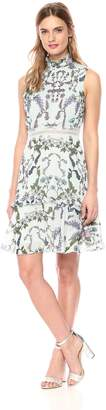 Donna Morgan Women's Sleeveless Chiffon Fit and Flare Dress