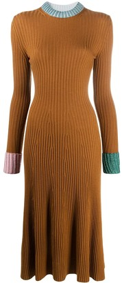 Lanvin Rib-Knit Jumper Dress