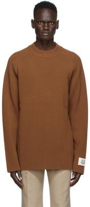 Kenzo Brown Wool Rib Knit Sweater