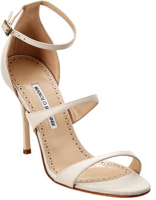 Manolo Blahnik Ratib 105 Leather Sandal