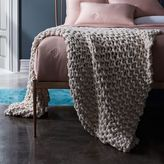 west elm Chunky Tape Knit Throw - Natural Canvas