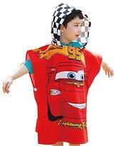 Kids Hooded Towel Wrap for Bath, Pool or Beach (Red Car)
