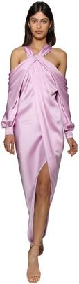 RALPH & RUSSO Off-the-shoulder Silk Dress