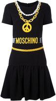 Moschino necklace print T-shirt dress