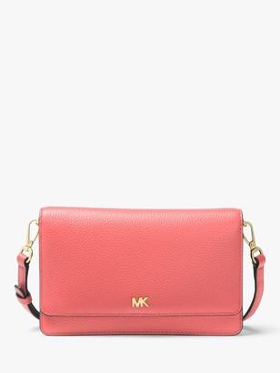 Michael Kors MICHAEL Phone Leather Cross Body Bag, Pink Grapefruit