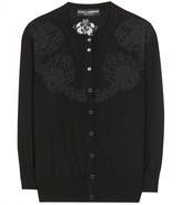 Dolce & Gabbana Wool and lace cardigan