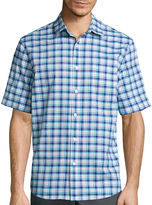 Claiborne Short-Sleeve Stretch Woven Shirt