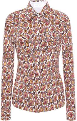 Victoria Beckham Printed Silk-georgette Shirt