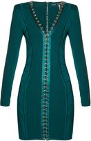 Balmain Hook-and-eye front mini dress
