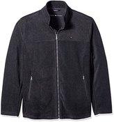 Tommy Hilfiger Men's Tall Size Classic Zip Front Fleece Jacket