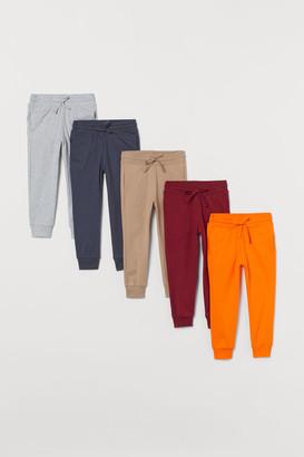 H&M 5-pack Cotton Joggers - Orange