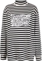 Eytys Compton doodle-print striped sweater